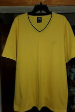 ENYCE BRAND LOGO YELLOW V NECK T SHIRT NEW MEN'S SIZE FITTED 2XL