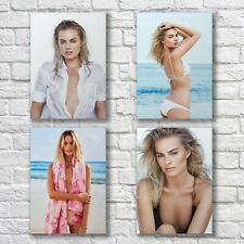 Margot Robbie Poster A4 HQ NEW Set Sexy Hot Pretty Woman Home Wall Decor