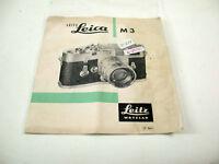 Leica Leitz leaflet Prospekt vintage original Leica M3 1958 / 17