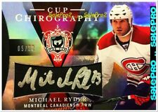 UD THE CUP 2007 MICHAEL RYDER NHL MONTREAL CANADIENS CHIROGRAPHY AUTOGRAPH /50