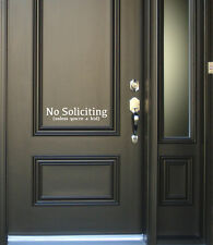 No Soliciting Unless You're A Kid Vinyl Door Decal Home House Quote
