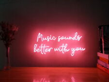 New Music Sounds Better With You Neon Sign For Home Decor Artwork With Dimmer