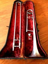 National Professional Trombone with Case & Mouthpiece, 1940's-1950's, Vintage