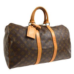 LOUIS VUITTON KEEPALL 45 TRAVEL HAND BAG PURSE MONOGRAM M41428 SP1920 40860