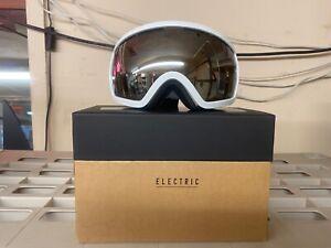 ELECTRIC EG2.5 SNOW GOGGLES GLOSS WHITE BRONZE/SILVER CHROME  NEW IN BOX