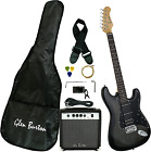 Glen Burton GE101BCO-BKB Electric Guitar Stratocaster-Style Combo with Accessori for sale