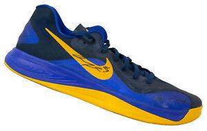 Andre Iguodala Signed Rt Blue Nike Basketball Shoe Stay in School BAS