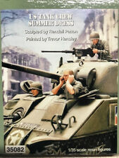 1:35 WWII US TANK CREW SUMMER DRESS High Quality Resin Kit 3 Figures