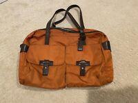 Tumi Duffel Carry-on Weekender Voyager Bag Ballistic Nylon Orange POCKETS