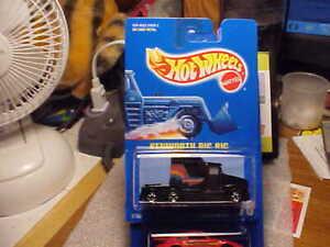 Hot Wheels All Blue Card #76 Kenworth Big Rig with Basic wheels