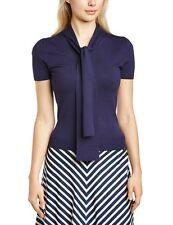 fever london rosana t-shirt pullover top blau XS 50s Pin Up Schluppenbluse neu