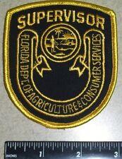 FL Florida Fla State Agriculture Consumer Serv. Police Supervisor Shoulder Patch