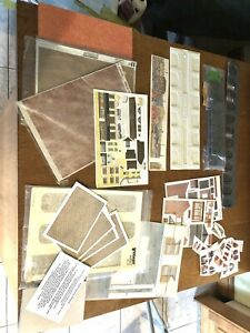 OO gauge ACCESSORIES- Card Kits Paving Sheets Background etc JOB LOT