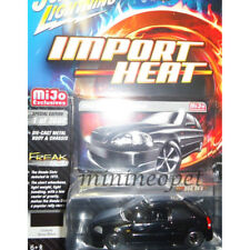 JOHNNY LIGHTNING JLCP7136 2000 HONDA CIVIC CUSTOM 1/64 DIECAST MODEL CAR BLACK