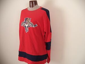 Men's Red NHL Shirt.  2XL. 100% Cotton. Long Sleeve.