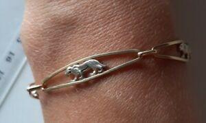 Armband 585 14k Gelbgold Weißgold  Puma