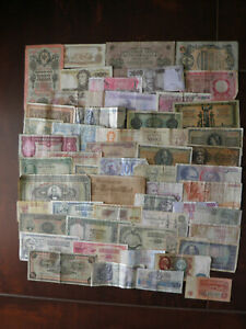 Lot 52 Different World Banknotes !!!!!!!!