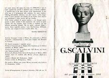 SCALVINI Giuseppe, Sculture di Scalvini. Galleria Bergamini 1952