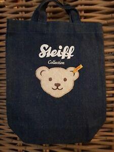 STEIFF Kindergartentasche Jeans mit großem Teddykopf  18 x 25 cm  NEU