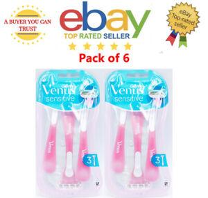 Gillette Venus Smooth Sensitive Razor Blades Pack of 6