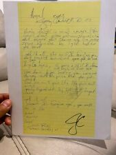 Jerry Cantrell (Alice In Chains) Signed Handwritten lyrics - AUTOGRAPHED!
