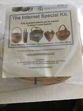 Basket Weaving Kit Patterns & Supplies To Weave 5 Basic Baskets New