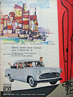 PUBLICITÉ DE PRESSE 1958 LA JOIE AVEC ARIANE 4 SIMCA PRINTEMPS ÉTÉ AUTOMNE HIVER
