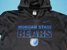 NWT NIKE Therma-Fit MORGAN STATE BEARS Sweatshirt HOODY Men Size L Black