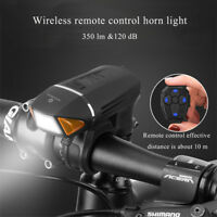 ROCKBROS Bike Remote Control Horn Light  350 lm &120 dB USB rechargeable