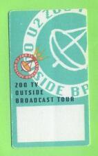 U2-OUTSIDE BROADCAST tournée Zoo TV-Concert-Satin-pass - belle pièce de collection