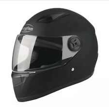 Moto Matt Black Full Face Helmet Motor & Scooter