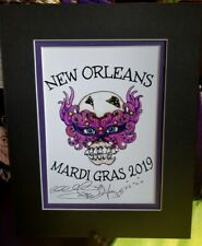 """MARDI GRAS 2019 """"SKULL WITH MASK"""" , Jamie Hayes, NEW ORLEANS, SIGNED GICLEE"""