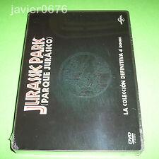 JURASSIC PARK PARQUE JURASICO COLECCION DVD NUEVO Y PRECINTADO STEELBOOK