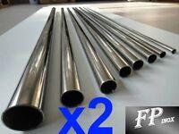 ( Lot de 2 Tubes )Tube inox 20mm x 1,5mm Longueur 1 mètre  Polimiroir 316