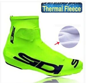 Fleece Thermal Winter Cycling Shoe Cover Sneaker Bike Overshoes Road Bicycle MTB
