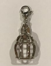 Origami Owl Silver Bird Cage Dangle - Authentic - NEW