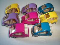 CITY VANS SCOOTERS MODEL CARS SET 1:87 H0 - KINDER SURPRISE PLASTIC MINIATURES
