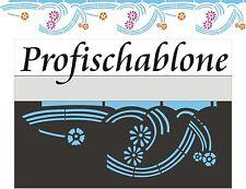 Schablone, Dekorschablone, Wandschablone, Malerschablone, Decorblüte Sockel