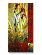 Metal Wall Art Contemporary Home Decor Abstract Wall Sculpture 23.5h x 12w