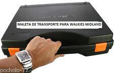 MALETIN DE TRANSPORTE PARA WALKIE TALKIE MIDLAND MALETA PARA 2 RADIOS  SUITCASE