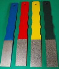 "3/4""x2"" x6"" Diamond hand lap set 240,320,400 and 600grit hones sharpeners"