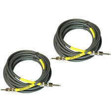 2 Pack Lot PloYnk audio high quality premium grade 12 ga 1/4 speaker cables 20ft