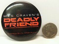 Wes Craven Deadly Friend 1986 Promo Promotional Movie Pin Pinback Button