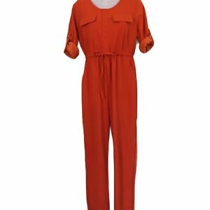 jumpsuit 14 womens orange gold retro nightclub disco 70's studio 54 NWT plus XL