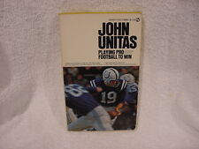 VINTAGE 1973 Johnny Unitas Paper Back Book, Baltimore Colts, VERY NICE!!
