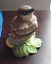 """Vintage Boehm Baby Cedar Waxwing Bird Figurine 432 Y 3 1/8"""" Tall"""