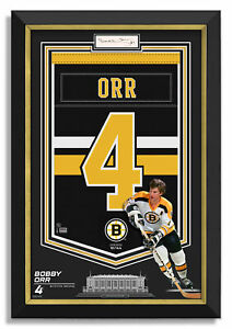 Bobby Orr Signed Boston Bruins Jersey Arena Banner - Archival Etched Glass™ /144