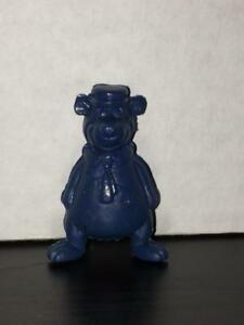 Toy Animal - Vintage Yogi Bear Pendil Topper. Dark blue Plastic