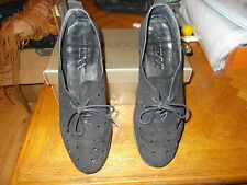 The FLEXX ~ Run Crazy Comfort Wedge Shoes ~ in Black  Nubuck Leather Sz 10M