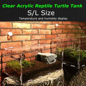 Turtle Tank Reptile Top Habitat Filter Kit Aquatic Large Acrylic Breeding  AU1